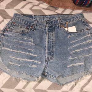 Levi's 501 Distressed Jean Shorts